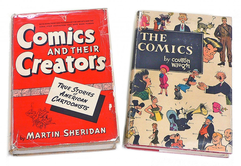 "Left: ""Comics And Their Creators"" 1942. Right: ""The Comics"" 1949"