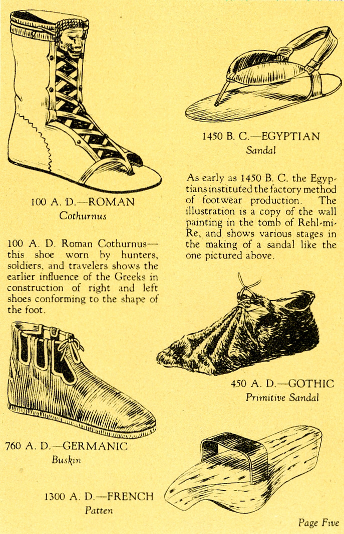 Shoes thru the ages page 1