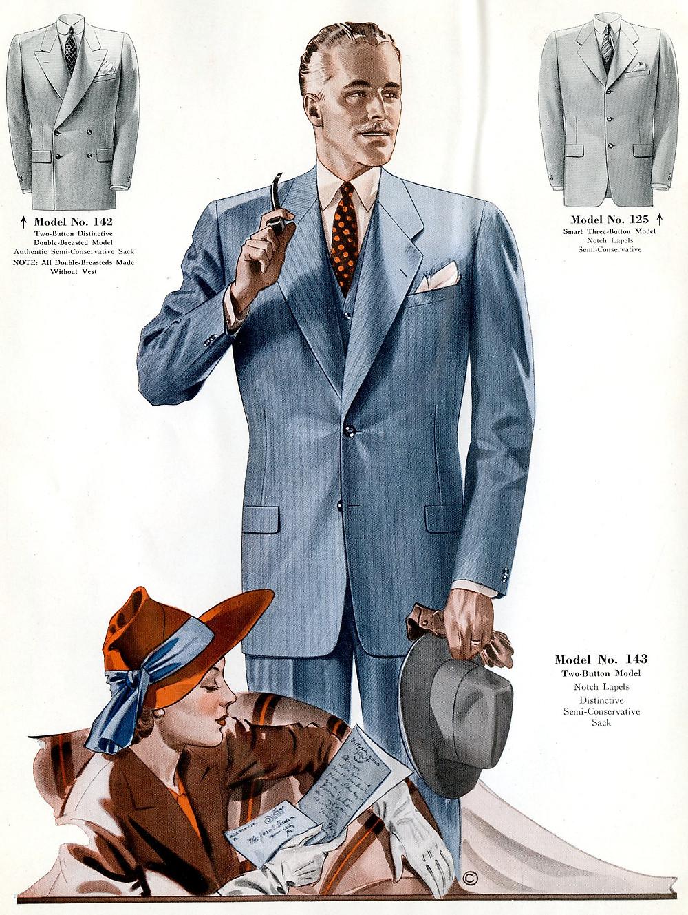 1940s fashion suit for men