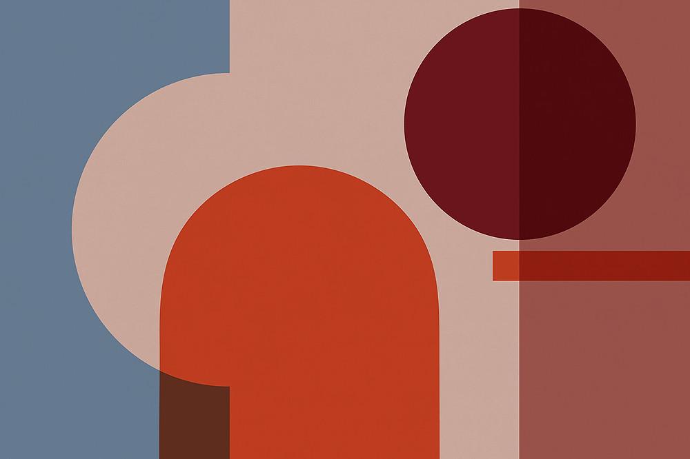 "MuralsWallpaper  ""classic Bauhaus shapes and colors"