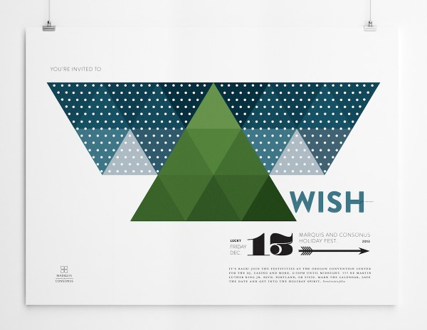 Holiday Poster Wish For Snow