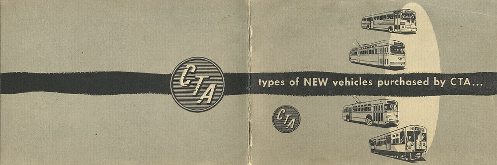 Late 1940s/early '50s: The CTA was off and running on their modernization program with booklets like this . . .
