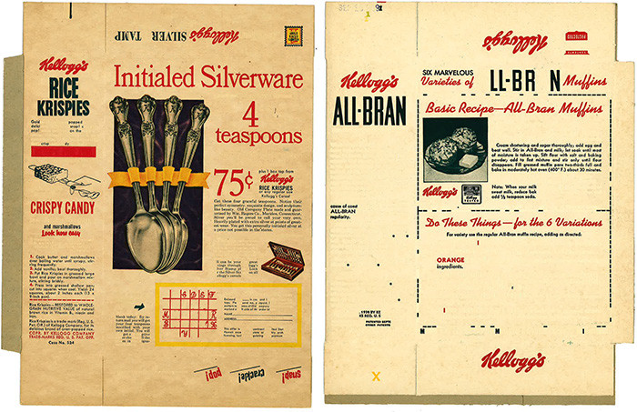kelloggs Initialed Silverware, kelloggs all bran