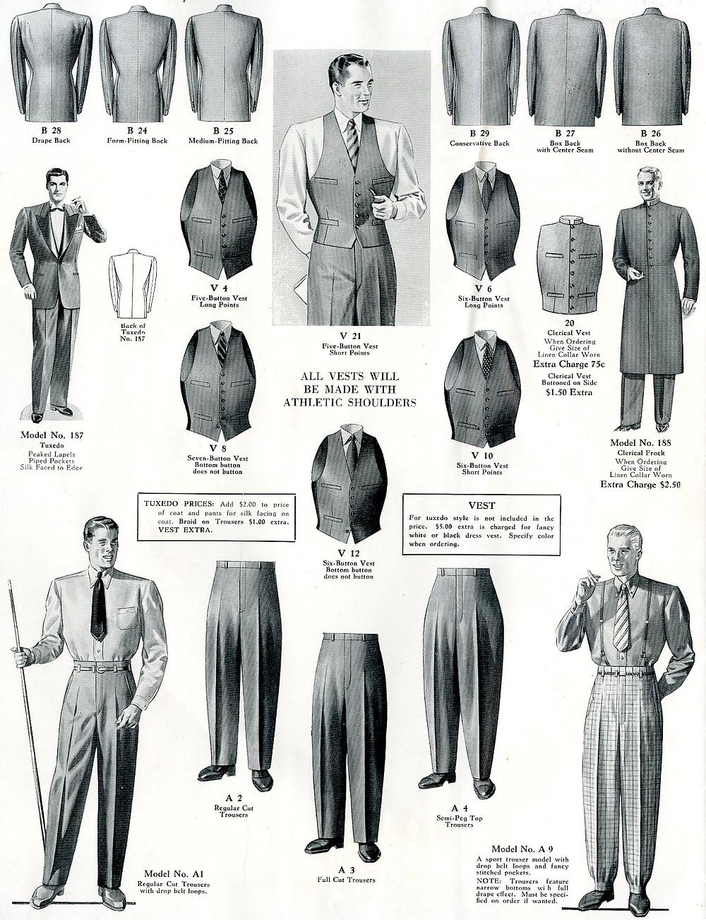 1940s fashion mens suits