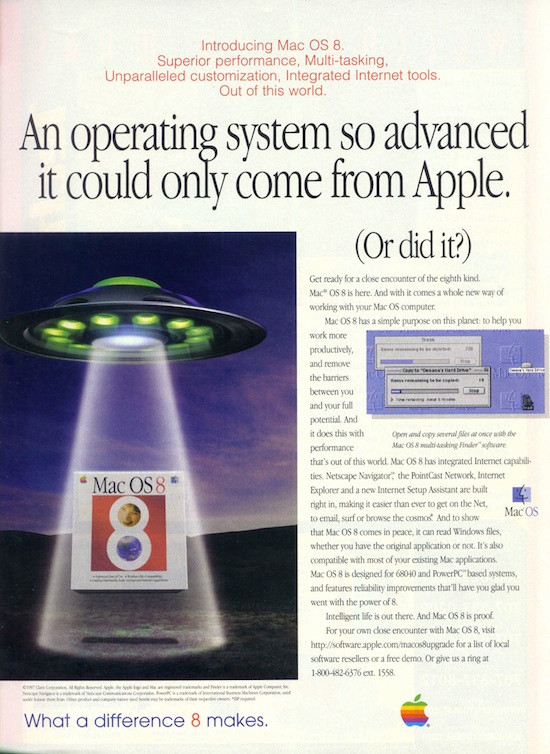 1997 Mac OS 8 Introduction Ad #1.