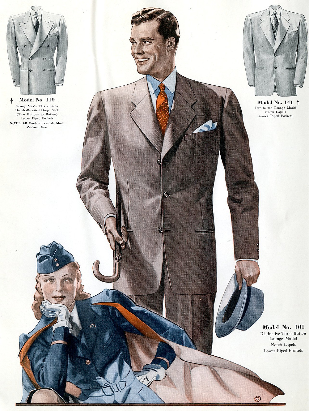 1940s fashion suits