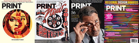 PRINT magazine covers
