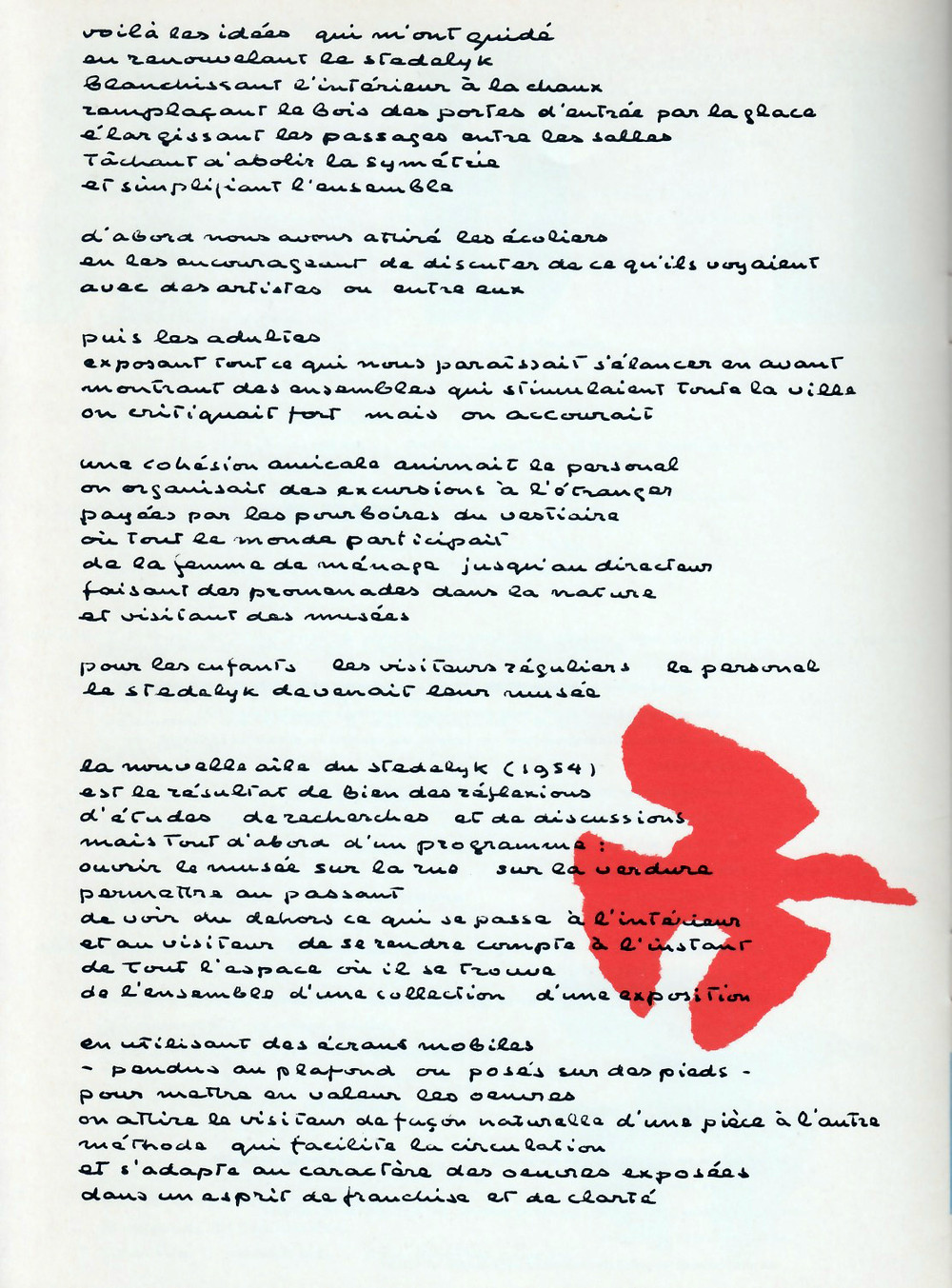 "Texte Amendé ""NU 1"", 1959."