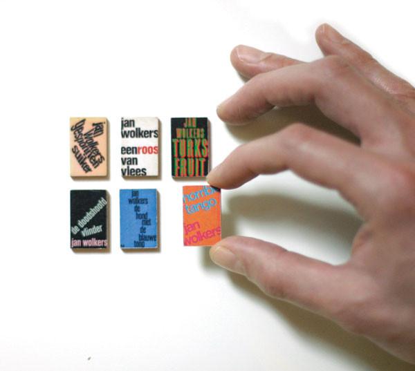 Jan Vermeulen book cover designs, writ small