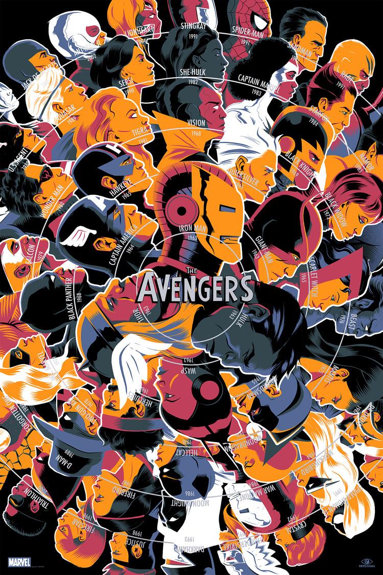 'The Avengers' by Matt Taylor for Info•Rama