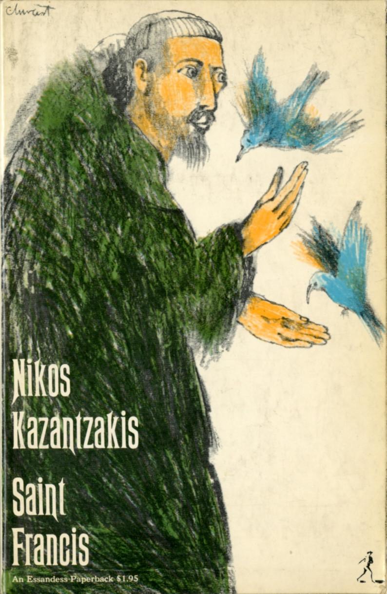 Chwast's colored pencil drawing for Nikos Kazantzakis' Saint Francis