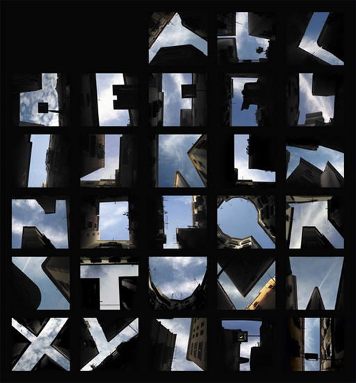 Lisa Rienermann's inventive project makes a cohesive typeface using the negative spaces between buildings in city skylines.