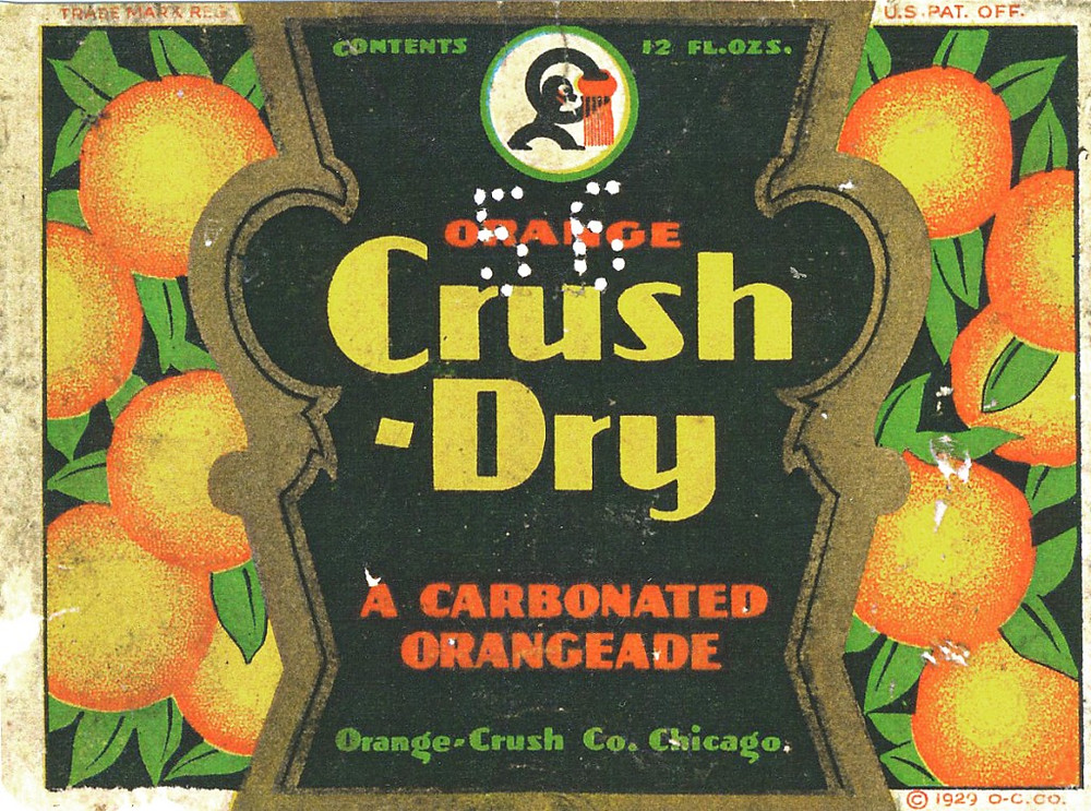 The vintage Crush bottle was originally brown to protect flavor.