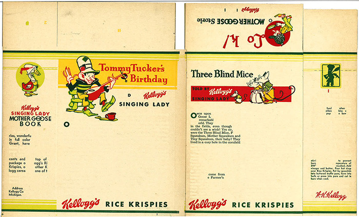 kelloggs rice krispies- singing lady mother goose book