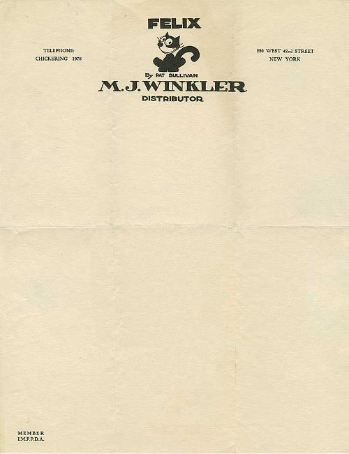 M. J. Winkler, 1925