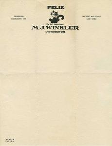 M. J. Winkler, 1925 | Source