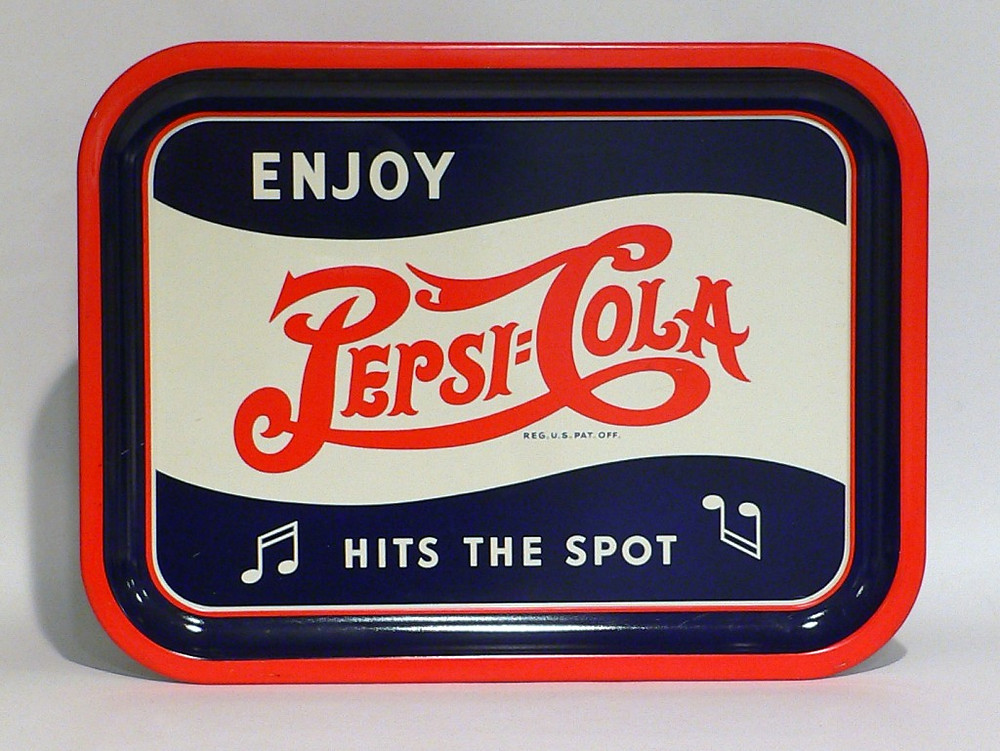A Pepsi-Cola serving tray