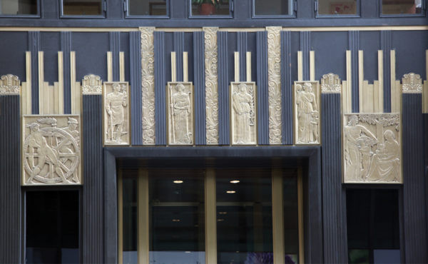 The Art Moderne style morphed into Art Deco.