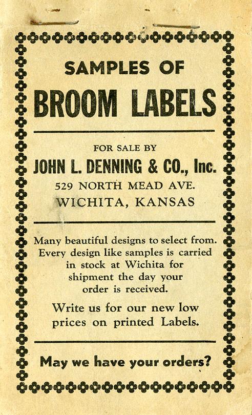 Samples of broom labels- broom016