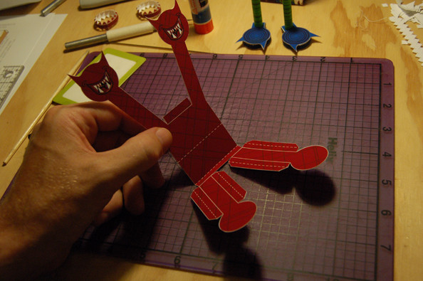 Paper Toy Monster Step 4a