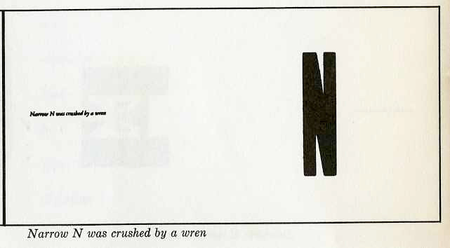 """narrow """"N"""" was crushed by a wren"""