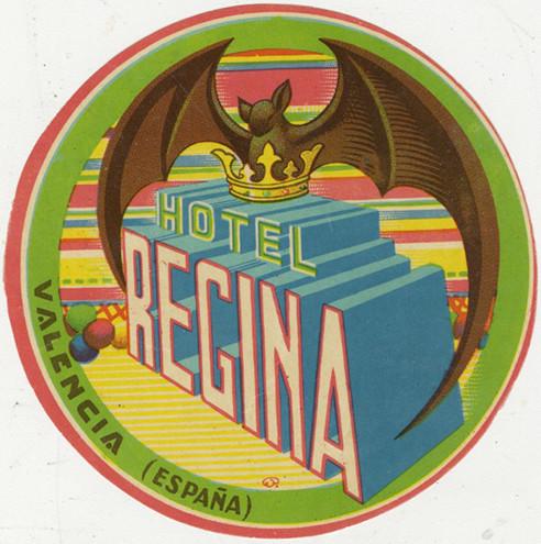 hotel regina label