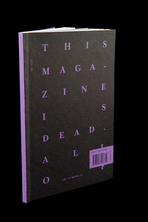 The cover of ARC's death minded issue