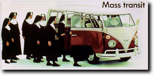 nuns entering a van