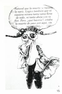Fig. 15—Illustration by Gerardo Cantú from children's book, Francisca y la Muerte. Publisher: Consejo Nacional de Fomento Educativo, 1979, Mexico City. Reproduced with permission from Mexico's Secretaría de Educación Publica, Dirección General de Publicaciones Y Bibliotecas.