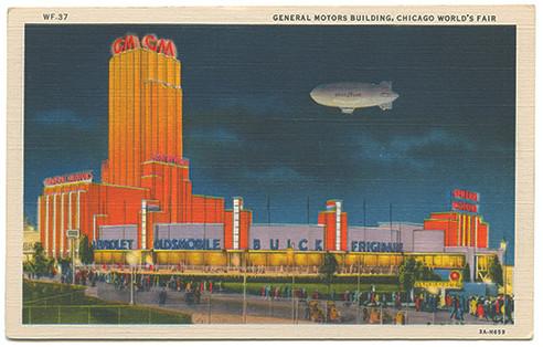 (pg 406) _General Motors Building, Chicago World's Fair_ Teich 3A-H659, 1933