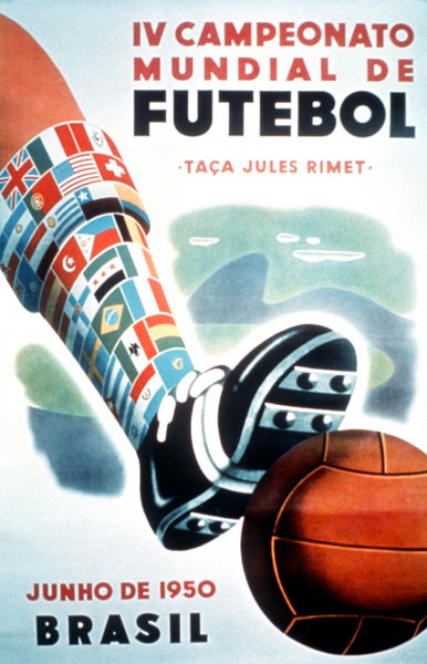 1950 World Cup Poster. Brazil