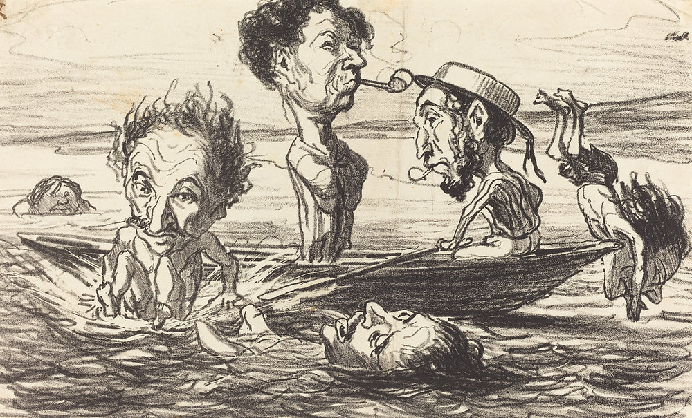 Honoré Daumier (French, 1808 - 1879 ), Les Tritons de la Seine, 1864, lithograph, Rosenwald Collection 1943.3.3205 From the National Gallery of Art