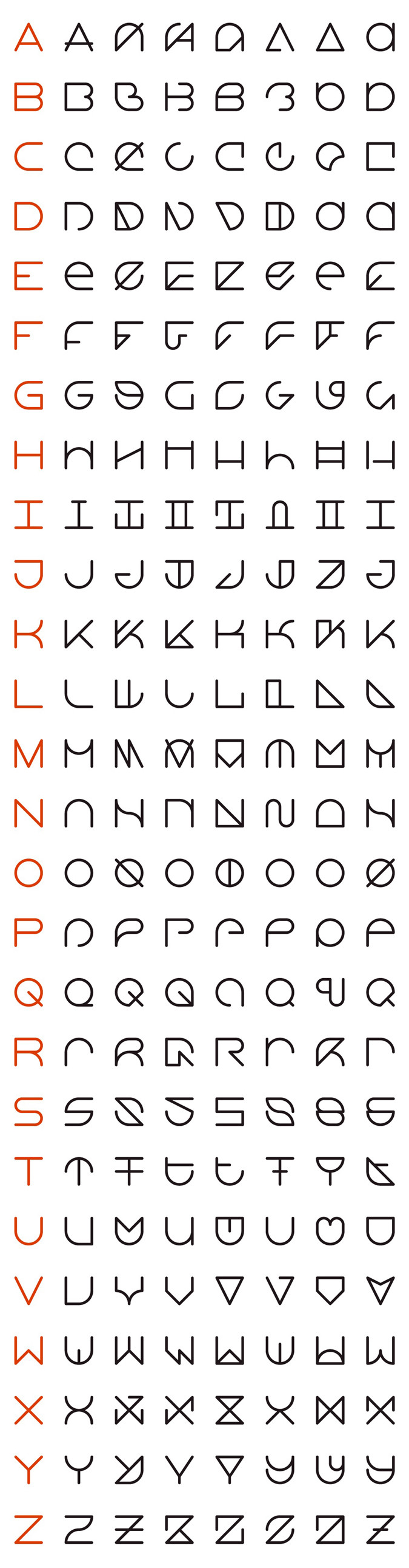 Rolando G. Alcantara alphabet