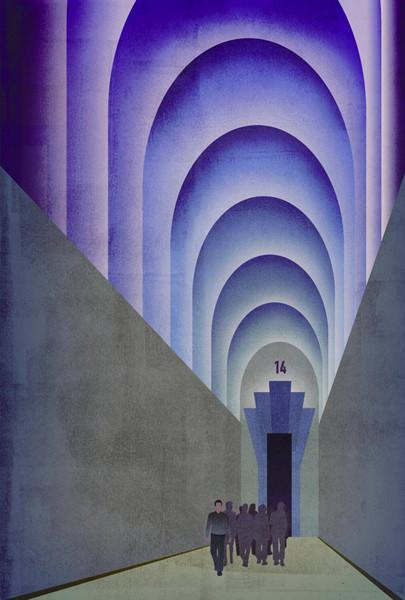 Finn Dean won this year's Book Illustration Competition for reinterpretations of Aldous Huxley's Brave New World.