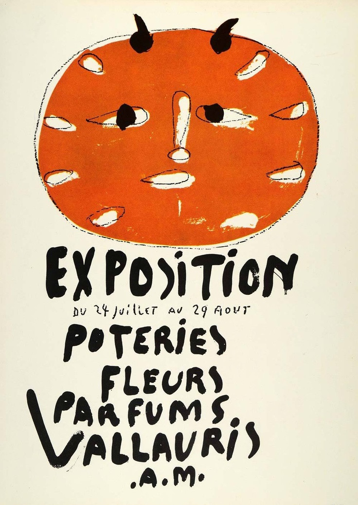 Exposition: Pottery-Flowers-Perfume, 1948. Commissioned by the French town of Vallauris to promote itself as a resort town and center for perfume and pottery production