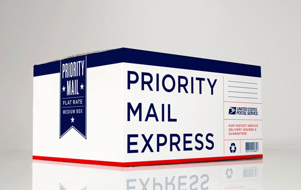 Grand Army's redesign of the Priority Mail Express shipping box