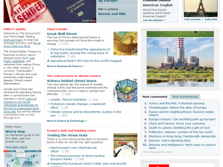 The Economist's Online Redesign Shines