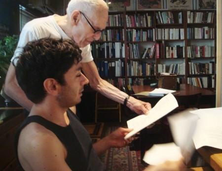 Rosset and Shamir at work in the East Village loft