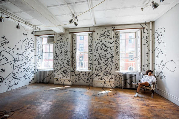 Shantell Martin at rest