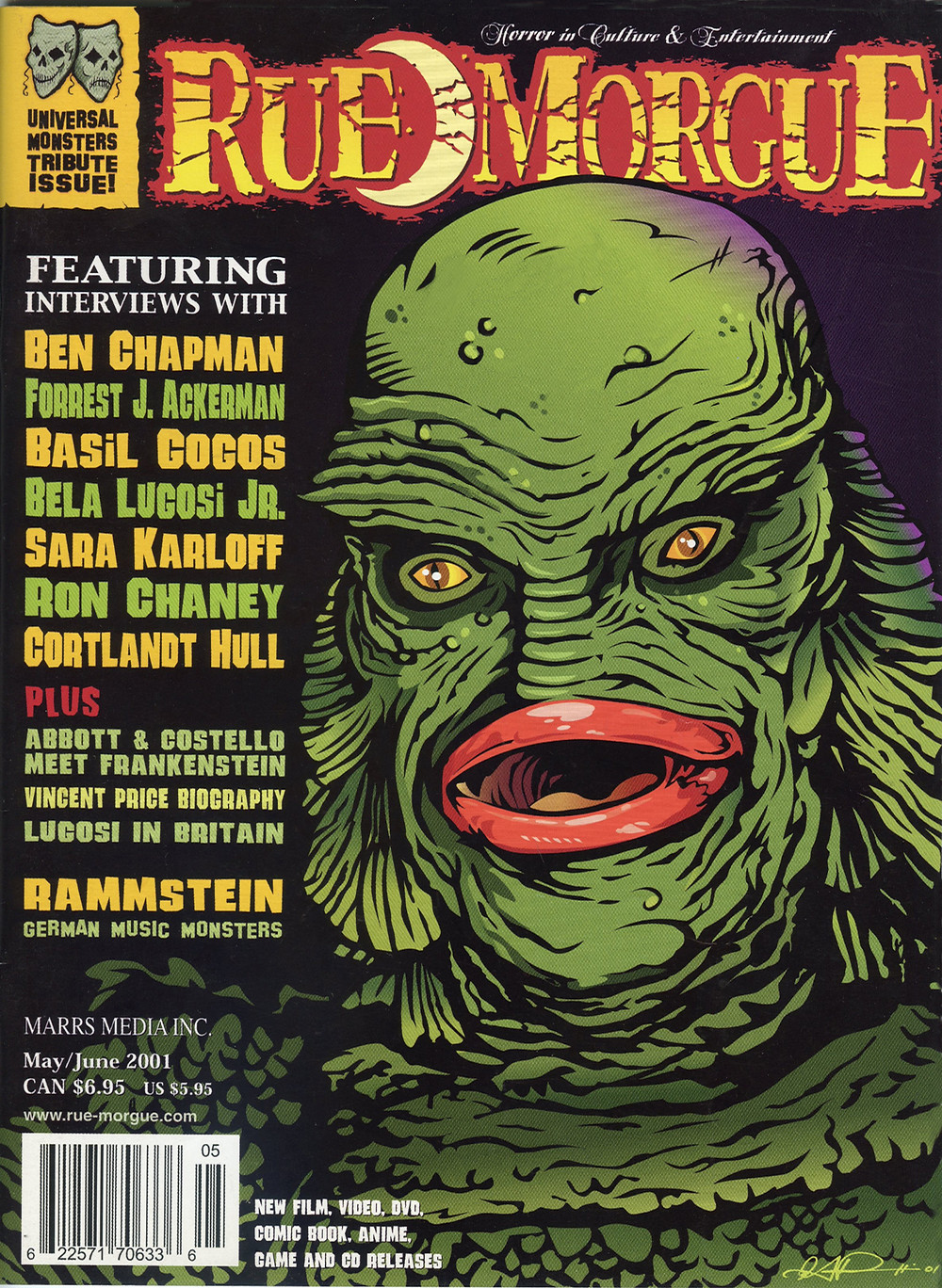 Rue Morgue Issue #21 by Gary Pullin (Copyright Marrs Media Inc.)