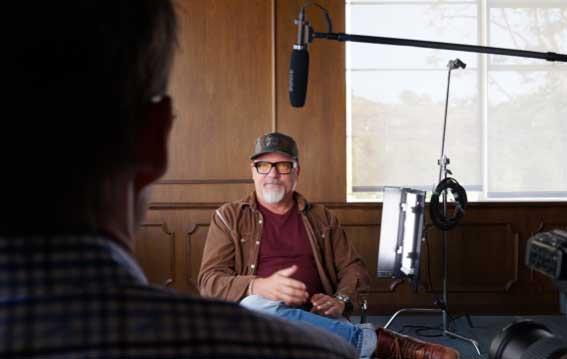 John Boiler during Briefly filming, from http://bassett.tv/briefly