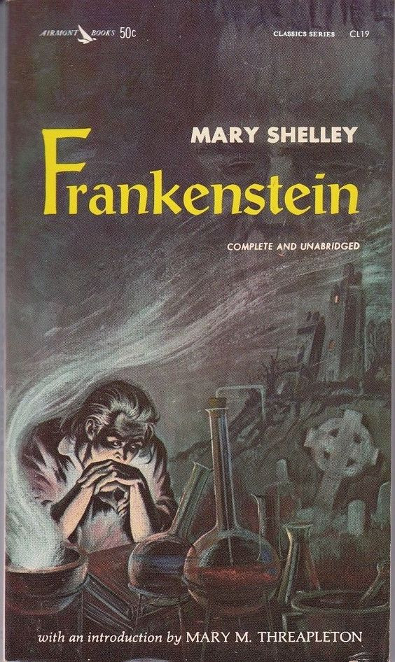 frankenstein book cover design