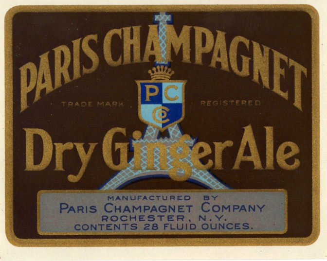 Dry ginger ale label