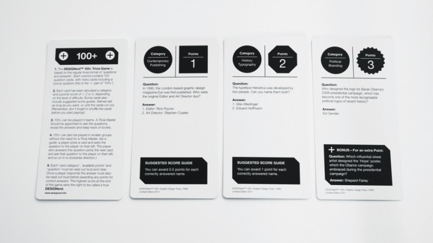 DESIGNerd is a trivia game for designers.