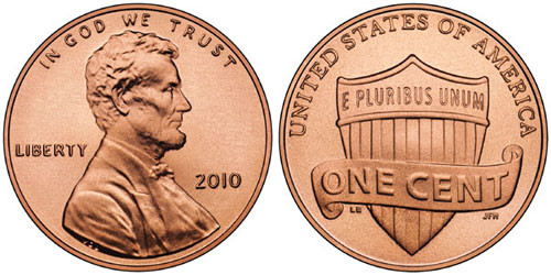 one cent, 2010