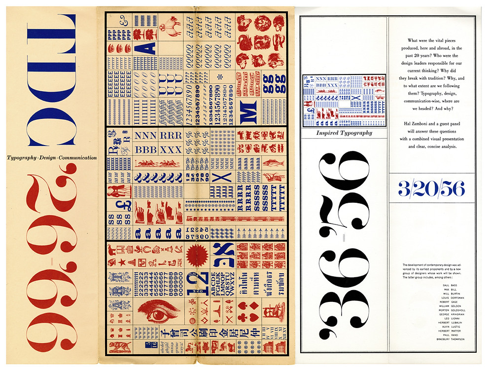TDC '26–'66 lecture series announcement. Design by Herb Lubalin with lettering by John Pistilli. (Courtesy of the Herb Lubalin Study Center of Typography and Design, Cooper Union.)