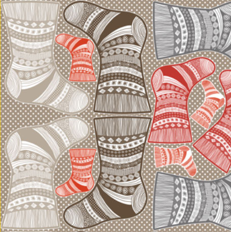Christmas Stocking design by Nadja Petremand: http://www.spoonflower.com/giftwrap/1541867?concept_id=143823
