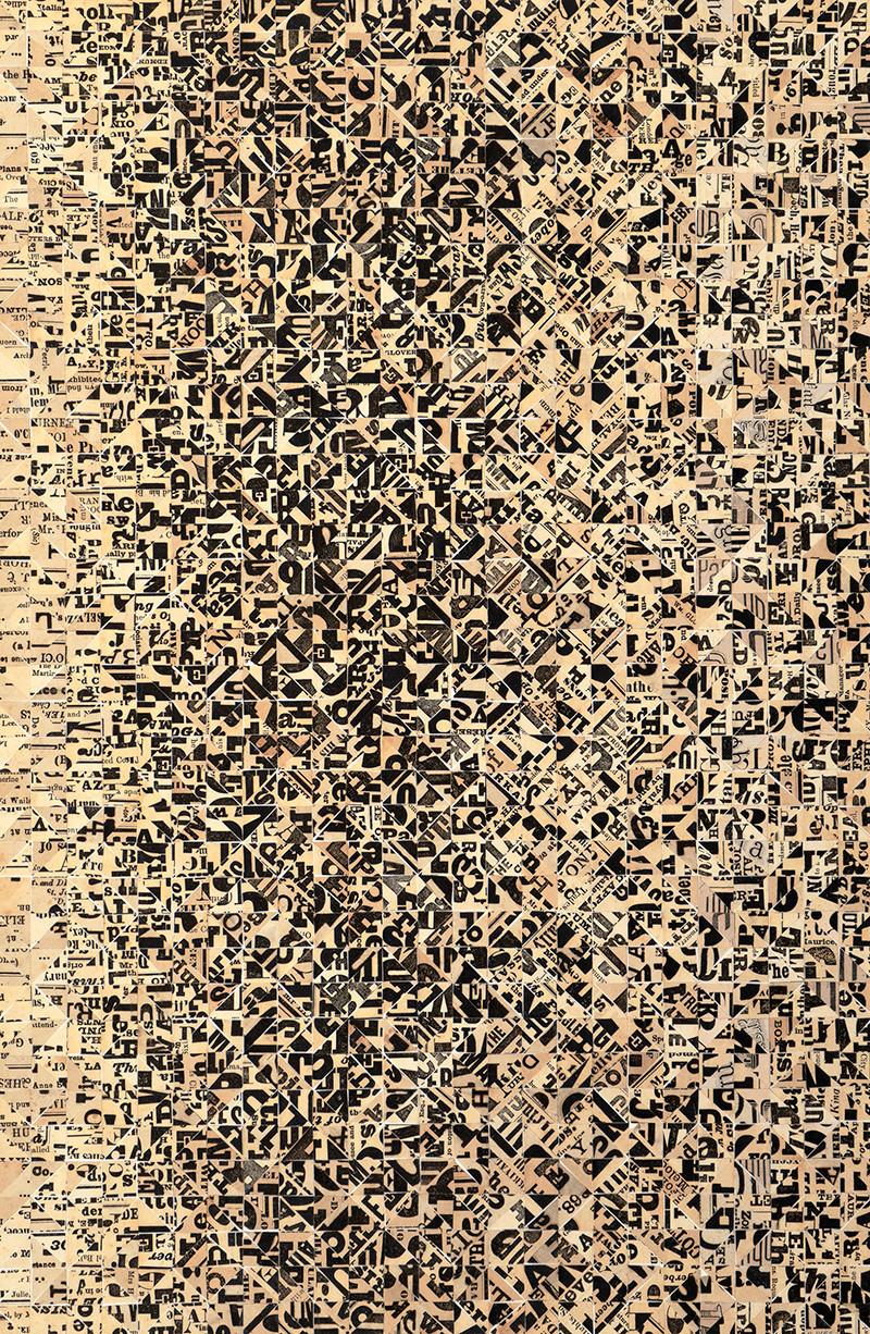 Burnham, 1977. Collage. 19 1/2 x 12 1/4 inches.