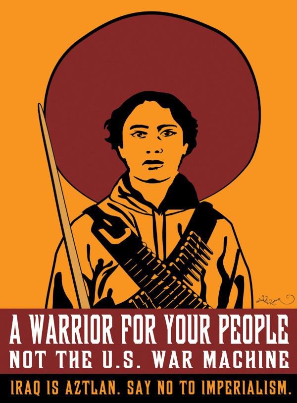 Favianna Rodriguez, Jesus Barraza, and Estria Miyashiro: Resist U.S. Imperialism, 2007