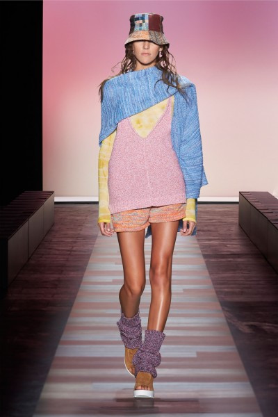 Pink and blue as seen at New York Fashion Week, BCBC Spring/Summer 2016 collection